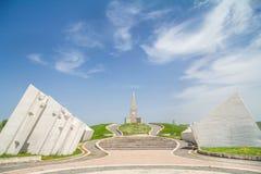 UZICE, SERBIE - 6 MAI 2015 : Monument yougoslave dans Kadinjaca, consacré aux partisans communistes qui sont morts dans la batail images stock