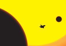 uziemia księżyc Zdjęcia Stock