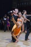 Uzmenkov Dmitry and Kazakevich Alina performs Youth-2 Latin-American program Stock Images