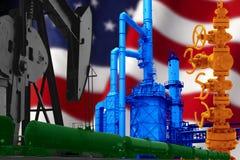 UZNANIE AMERYKAŃSKI przemysł paliwowy obraz royalty free