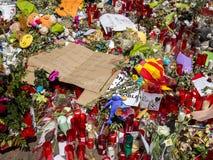 Uznanie ofiary Barcelona terrorystyczny atak Obrazy Royalty Free