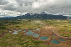 Uzon Caldera in Kronotsky Nature Reserve on Kamchatka Peninsula. Stock Photo