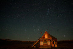 Uzon at night, Kronotsky nature reserve, Russia Royalty Free Stock Images