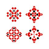 Ethnic embroidery ornament object traditional design stock illustration