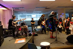 UZUHI Live At SpringFest NY 2014 8 Stock Images