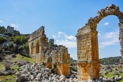 Uzuncaburc ruins,mersin turkey Royalty Free Stock Photos