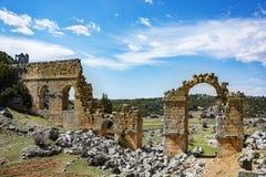 Uzuncaburc ruins,mersin turkey Royalty Free Stock Image