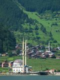 Uzungol. Beautiful mountain lake in northeast Turkey Stock Photo