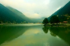 Uzungol (long lake). In Trabzon (1 hour) in TURKEY Royalty Free Stock Photo