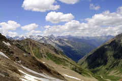 Uzunkol Karachay Cherkessia mountains Stock Image