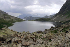 Uzunkol Karachay Cherkessia mountains Royalty Free Stock Image