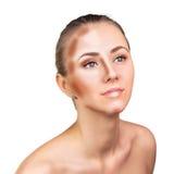 Uzupełniał kobiety twarz Konturowy i główna atrakcja makeup Zdjęcie Stock