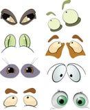 uzupełnia ustawiających patroszonych oczy Obrazy Stock