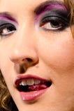 uzupełniająca twarzy kobieta Fotografia Royalty Free