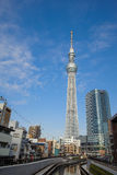 uzupełniający budowy nieba Tokyo drzewo Obraz Stock
