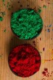 Uzupełniający colours: zieleń i czerwień fotografia stock