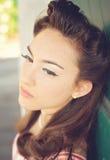 uzupełniający lata pięćdziesiąte włosy Fotografia Stock