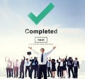 Uzupełniający osiągnięcia osiągnięcia sukcesu Skończony pojęcie zdjęcia royalty free
