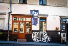 Uzupio Gavte in Vilnius. Fish Shop in Vinius, Uzupis Republic Royalty Free Stock Photography