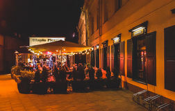 Uzupis cafe at night, Vilnius Stock Photos