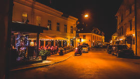 Uzupis cafe at night, Vilnius Stock Photography