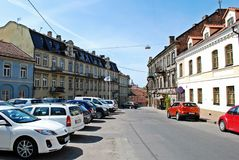 Uzupis district in Vilnius city on May Royalty Free Stock Photos