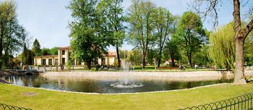 Uzupis park in Vilnius city on May. Lithuania. VILNIUS, LITHUANIA - MAY 1 : Uzupis park in Vilnius city on May 1, 2014, Vilnius, Lithuania Stock Image