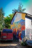 Uzupis Republic, Vilnius. Street art in Uzupis Republic in Vilnius Stock Images