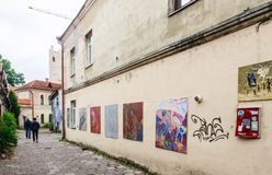 Uzupis Street, Vilnius Royalty Free Stock Image
