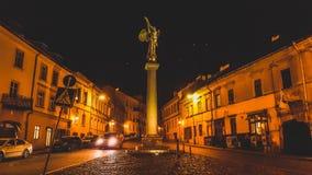 Uzupis in Vilnius Stockfoto
