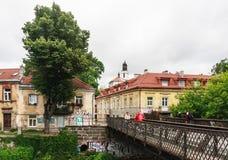 Uzupis - Vilnius-district litouwen Stock Fotografie
