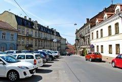 Uzupisdistrict in Vilnius-stad op Mei Royalty-vrije Stock Foto's