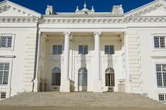 Uzutrakis宫殿的外部在特拉凯,立陶宛 库存照片