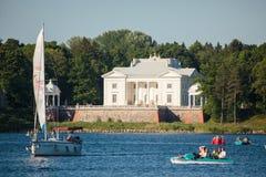 Uzutrakis Manor in Trakai stock photos