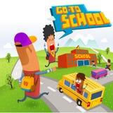 Vá à escola Imagens de Stock