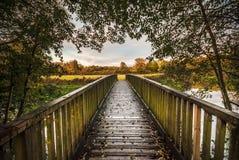 Vá adiante, cruze a ponte fotografia de stock royalty free