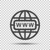 Vá ao ícone da Web Ilustração lisa do vetor do Internet para o Web site sobre Fotos de Stock