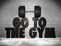 Vá ao gym Fotografia de Stock