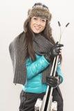 Vá dentro para o esqui Imagens de Stock Royalty Free