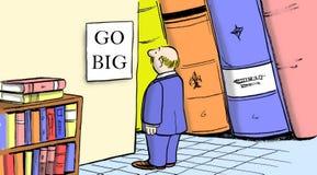 Vá grande com a planta das vendas do negócio Imagem de Stock