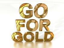 Vá para o ouro ilustração royalty free