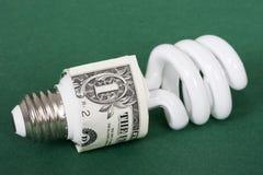 Vá verde e conserve o dinheiro Imagem de Stock Royalty Free