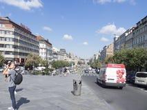 Václavské náměstí大道在布拉格 免版税库存图片