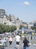 Václavské náměstí大道在布拉格 免版税库存照片