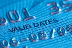 Válido de la tarjeta de crédito a Fotografía de archivo libre de regalías
