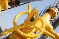 Válvula amarilla Fotografía de archivo