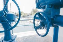 Válvula azul Imagenes de archivo