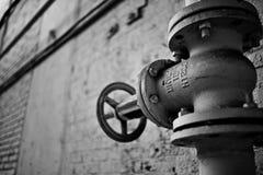 Válvula branca da tubulação Foto de Stock
