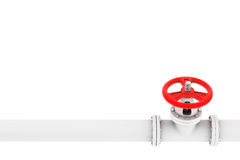 Válvula com gasoduto Imagens de Stock