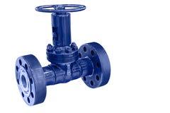 Válvula compacta moderna para aumentar la seguridad del transporte del gas Imagen de archivo